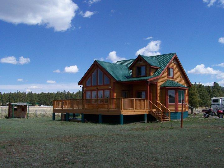 Veiw of the Back side of Cabin - Mormon Lake Cabin - Mormon Lake - rentals