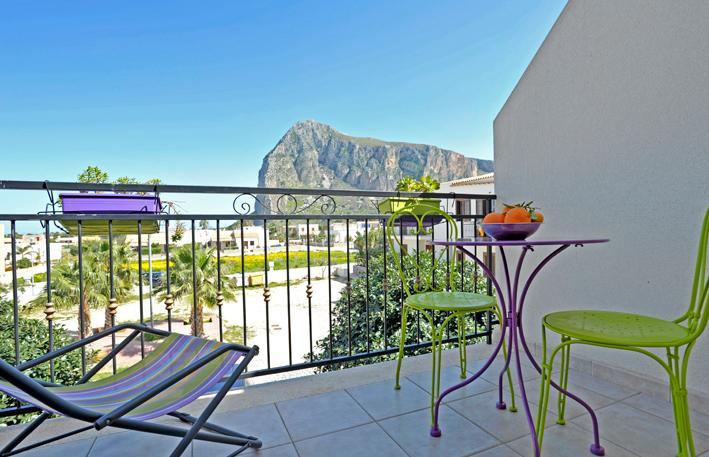 Balcone verandina vista Riserva Monte Monaco - Mira4 - San Vito Lo Capo a 650 metri dalla spaiggia - San Vito lo Capo - rentals
