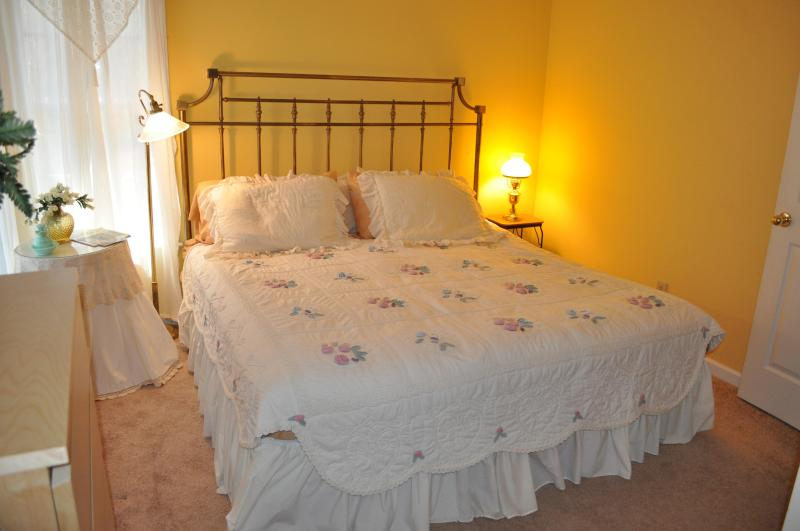 Upstairs Bedroom #1 has King Size bed with 19