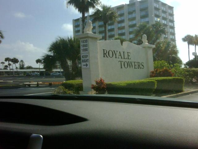 Royale Towers Entrance - Ocean View at Royale Towers in Cocoa Beach - Cocoa Beach - rentals