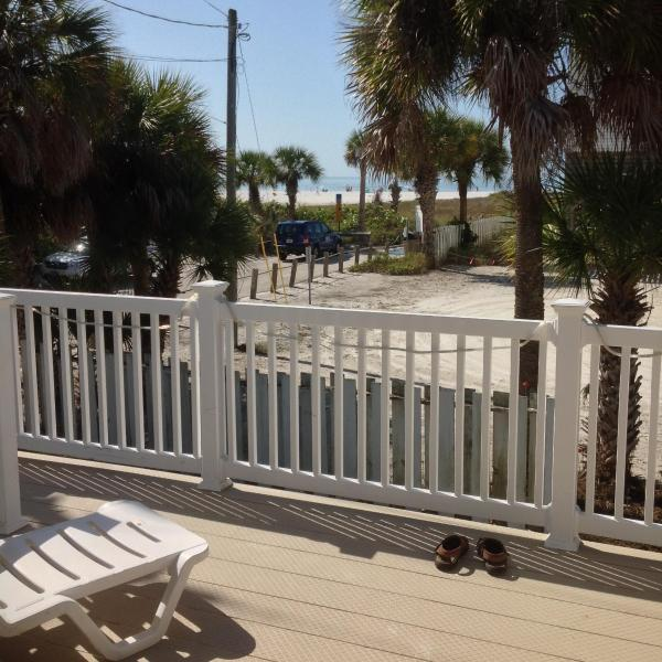 VIEW OF THE GULF FROM THE DECK - FLAMINGO BEACH HOUSE # 1 - Fort Myers Beach - rentals