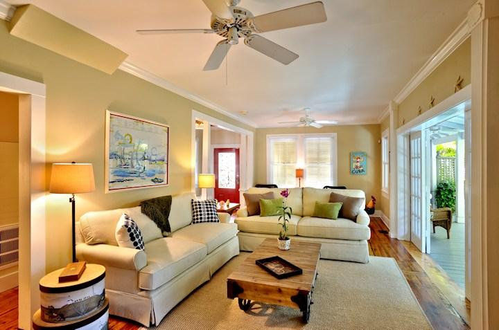 Great view of the pool through the expansive living room french doors - SOUTHARD COMFORT *Weekly Rental* Historic Old Town - Key West - rentals