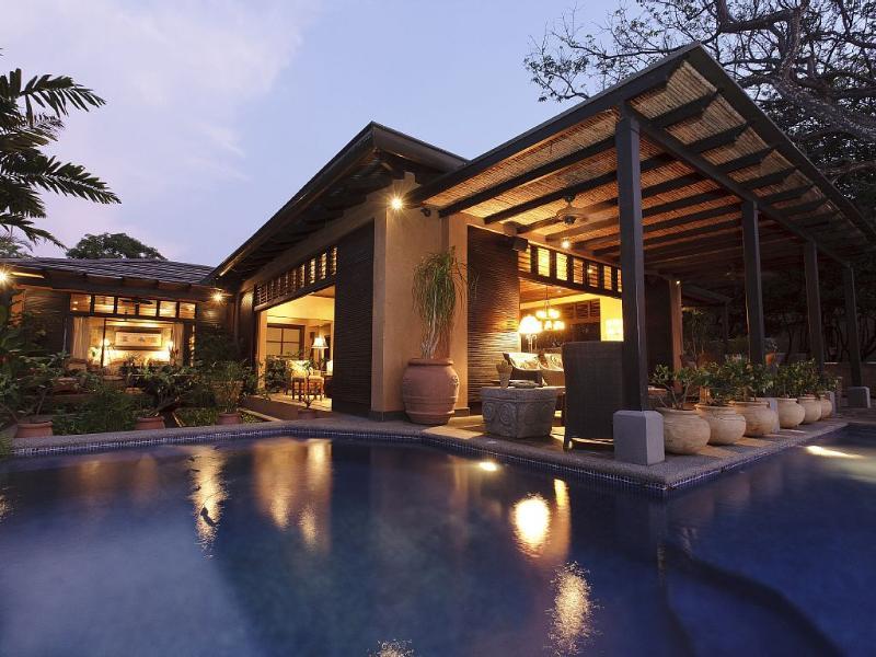 Looking over the pool toward the house - Elite Tamarindo Beachfront  Home- Pool, Ocean View - Tamarindo - rentals