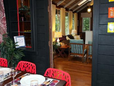 Big Bertha's, open floorplan, from dining to living - Big Bertha's - Guerneville - rentals