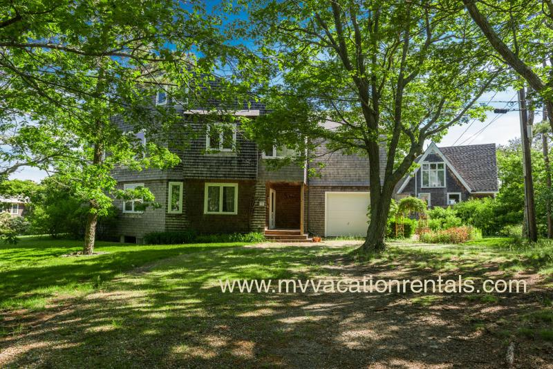 Yard and Entry Side of House - BICKE - East Chop, Waterview, Central Air, Wifi Internet - Oak Bluffs - rentals