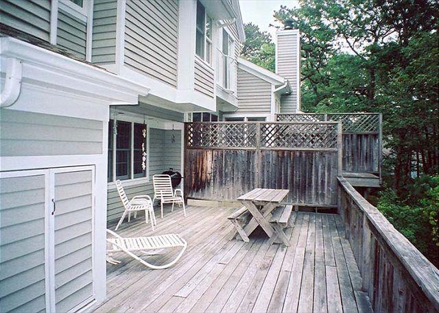 Deck - FREES - Tashmoo Cove Condominium, Private Association Pool, Tennis and Beach - Vineyard Haven - rentals