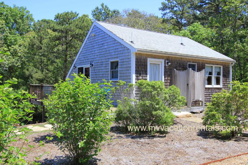 Entry Side of Guest House and Outside Shower - DEPUG - Lagoon Guest House, Walk to Private Lagoon Beach - Oak Bluffs - rentals