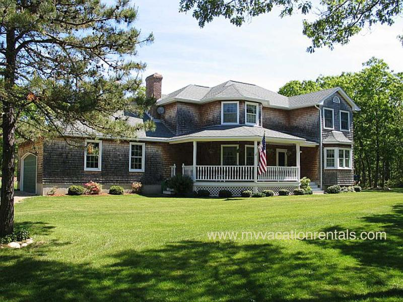 "Exterior of House & Yard - ROCHB - Bridle Path Beauty , Family Room w/ Pool Table, Large Porch, 47"" LCD HDTV, Wifi, A/C - Oak Bluffs - rentals"