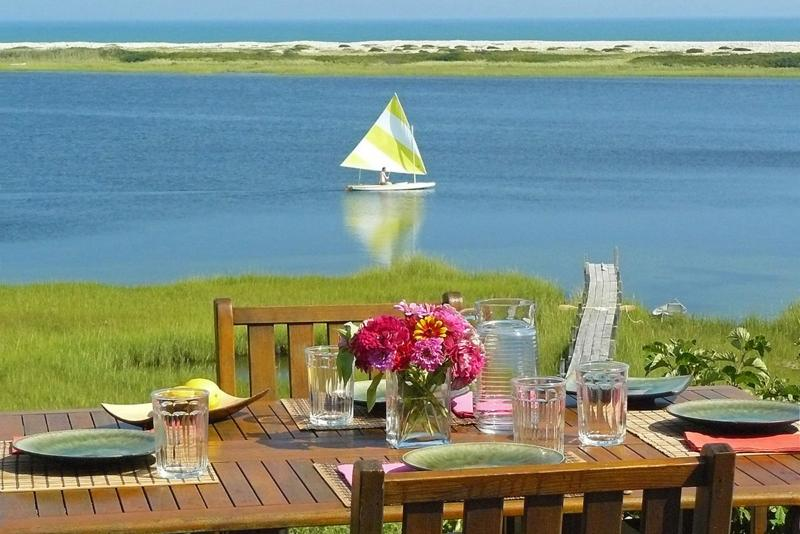 View from Deck - ALDEM - Waterfront, Magnificent Views, Great Kayaking, Walk to Stonewall Beach, Hi Speed Internet, Mooring for 40 foot boat - Chilmark - rentals