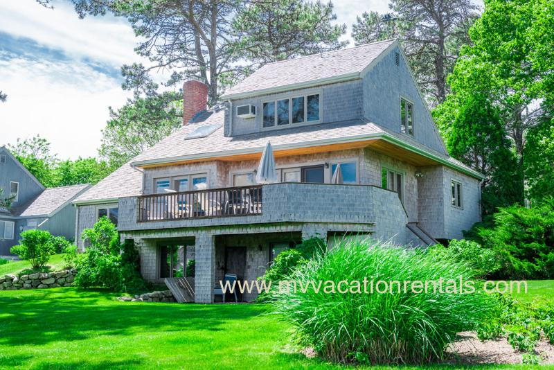 Yard Side of House and Deck - CARNR - Hidden Cove, Waterview, WiFi, A/C - Oak Bluffs - rentals