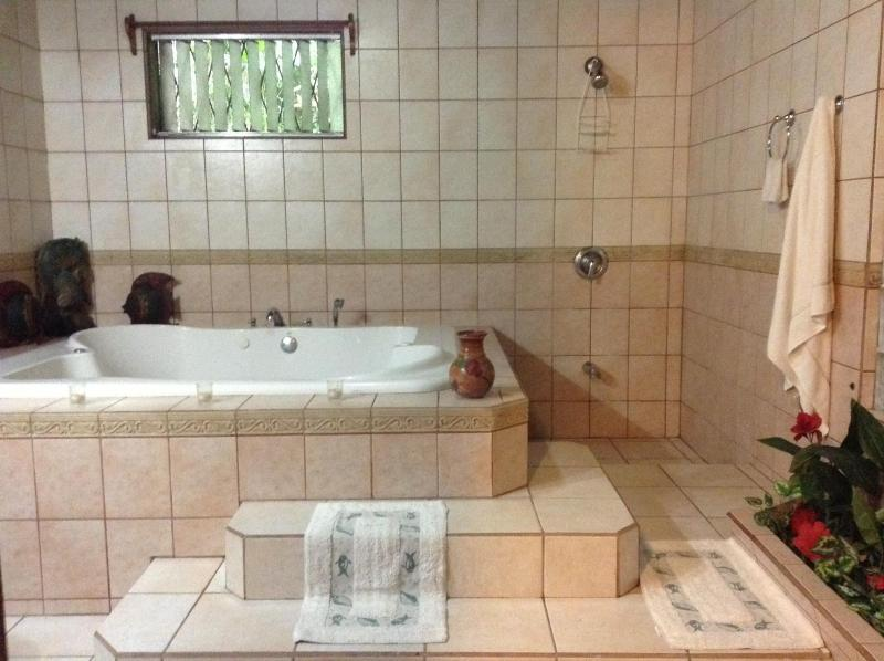 The most romantic bathroom in all of Manuel Antonio. - Naturalist's Delight - Private House, Quiet, Secure, Close to Beach and Park - Manuel Antonio National Park - rentals