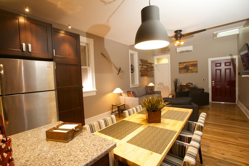 Skorda dining area - Vetehuset - Skorda: Short-term Apartment Rental - Lindsborg - rentals