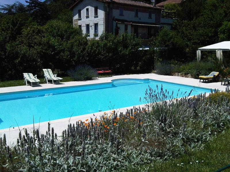 The house from the pool - Les Condomines at Lanet - Lanet - rentals
