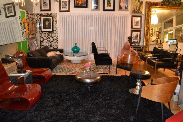 The living area and it's shag rug. - Midcentury Marvel at Paradise Palms - Las Vegas - rentals