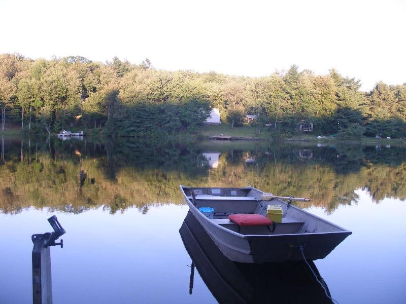 Boat at the dock - Private Lakefront, Deposit, NY 3BR+/3BA Sleeps 10 - Deposit - rentals