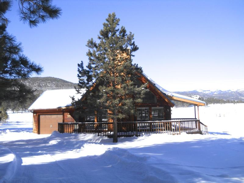 Winter curb appeal - Mountain View Cabin: Resort Home in the Rockies - Angel Fire - rentals