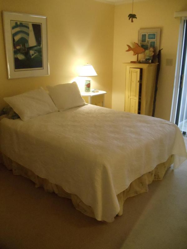 Master Bedroom with sliding door to porch - 8 1/2 Marina Unit #1 - Atlantic Beach - rentals