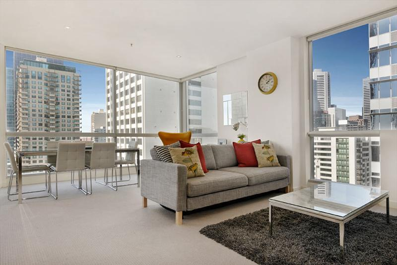 Melbourne Central City living area - Staycentral CBD 2 bedrooms gym pool Chinatown MCen - Melbourne - rentals