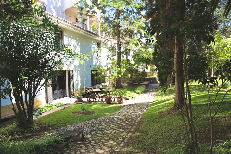 entrance to the apartment through the garden - Estoril Living: 3BR  in private condo FREE WIFI - Estoril - rentals
