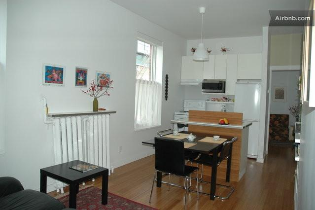 main space with (small bedroom thru the door on right, w two windows!) - Charming, Central, And Renovated - Montreal - rentals