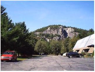 View from parking area/front door - Heart of North Conway/ three level Condo - North Conway - rentals