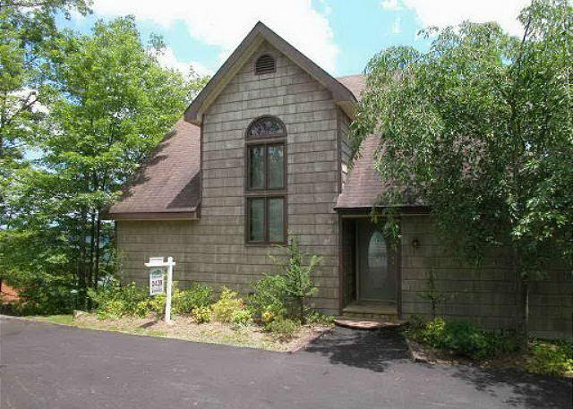 Exterior from Driveway - 439 Sage Mountain Lodge - Gatlinburg - rentals