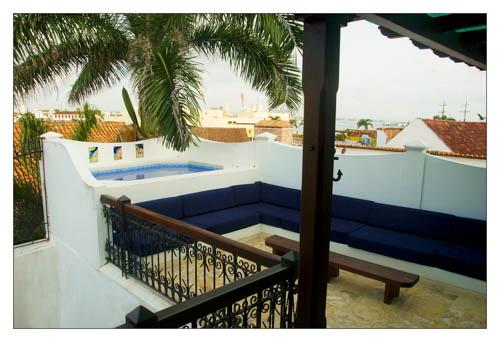 Back deck with large Jacuzzi - Spectacular apartment in cartagena Colombia - Cartagena - rentals