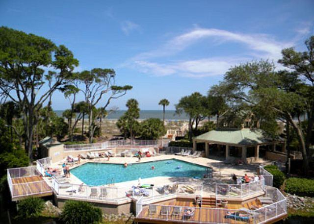 Balcony View - Gorgeous View From This 3BR/3BA Oceanfront - Hilton Head - rentals