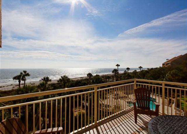Balcony View - Amazing View of Ocean, Beach and Pools 5BR/3.5BA Penthouse Vacation Paradise - Palmetto Dunes - rentals