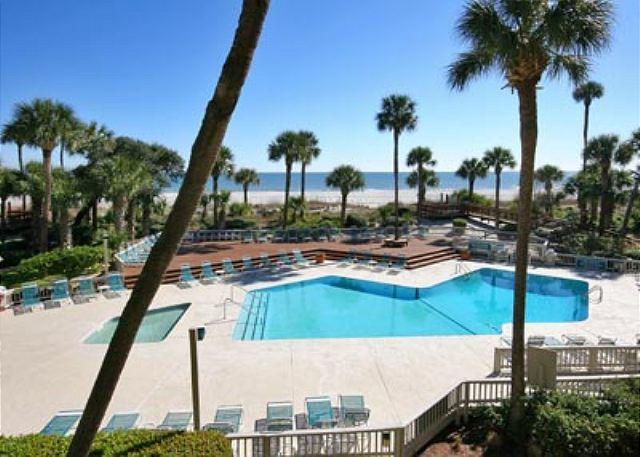 Balcony View - Fabulous 2BR/2BA Oceanfront Deluxe Villa is Remodeled and Redecorated - Hilton Head - rentals