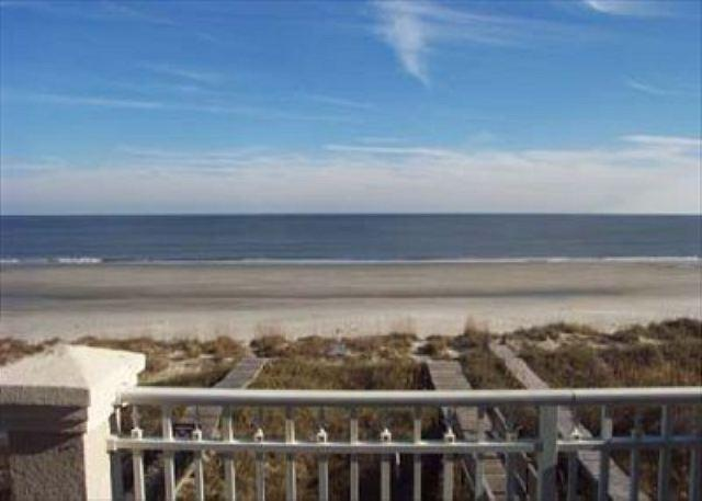 Oceanfront Balcony View - Wonderful Oceanfront 5BR/5.5BA Home with an Oceanfront Heated Pool - Hilton Head - rentals