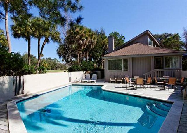 Pool Area - Spacious 5BR/5.5BA Home Only 2 Blocks from Beach Has Private Pool - Palmetto Dunes - rentals