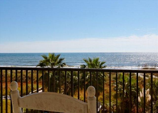 Master Bedroom Balcony View - 7BR/7.5BA Oceanfront w/ Heated Pool and Spa Magnificent Best of Hilton Head - Hilton Head - rentals