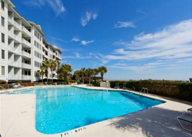 Pool at Sea Crest - A Luxurious 3BR/3BA with the Ocean and Ivory Sand Beach just Steps Away - Hilton Head - rentals