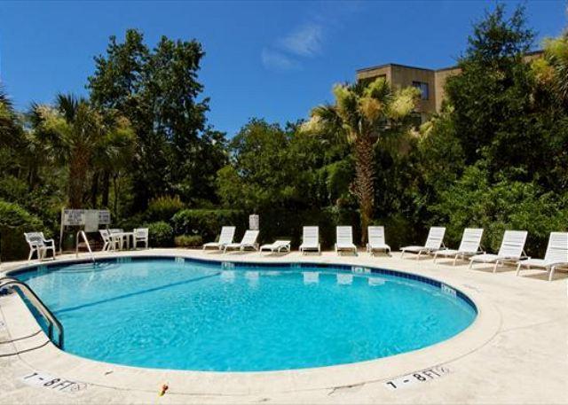 Pool at Xanadu - 3BR/3BA Penthouse Villa 3rd Row from the Beach has Beach Access and Cabana - Forest Beach - rentals