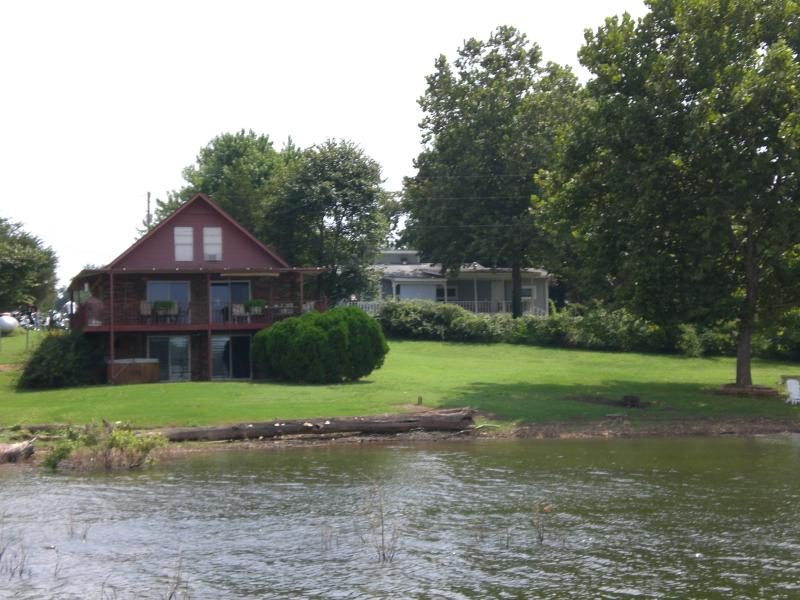 Photo of house from Beaver Lake - Hickory House on Beaver Lake - Lowell - rentals