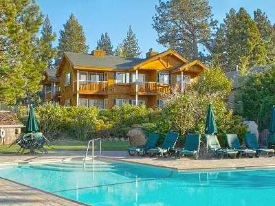 Unit 25 is shown in this photo facing the lake & pool, one of the best units at the resort - Red Wolf Lakeside Lodge in Tahoe Vista May 30-June 1 - Tahoe Vista - rentals