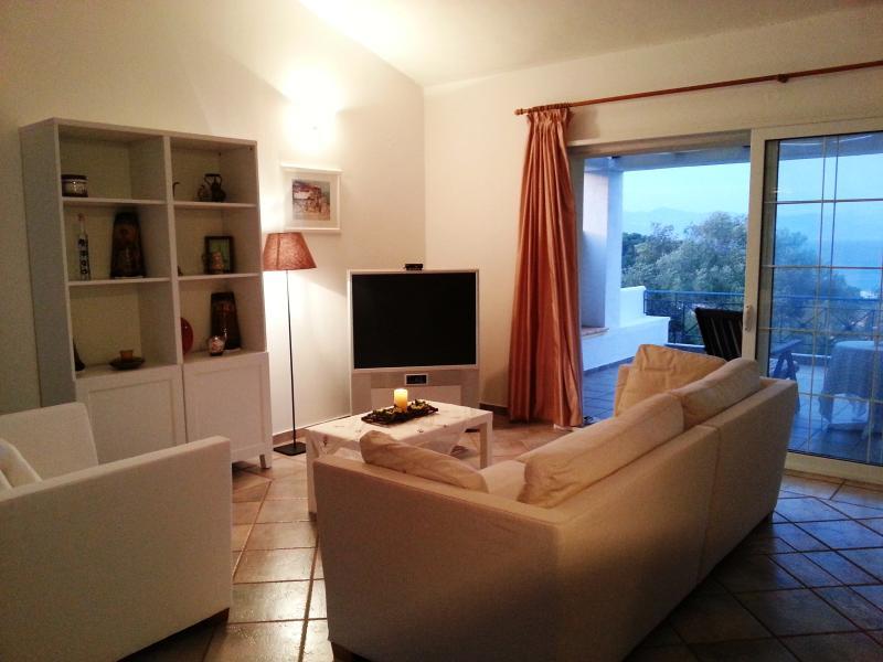 Living room  Open space, providing a unique atmosphere - Letos Villa - Paxos Island (Greece) - Gaios - rentals