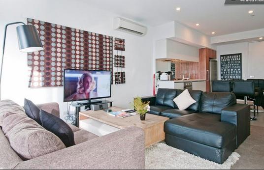 Living Room #1 photo - South Yarra Sky High City Views (2br) - Melbourne - rentals