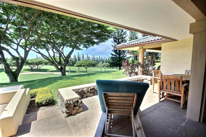 Very private Kapalua Golf Villa with sweeping Kapalua Bay Golf course and Pacific Ocean views in the distance. - Kapalua Golf Villas #KGV-14P6 Kapalua, Maui, Hawaii - Kapalua - rentals
