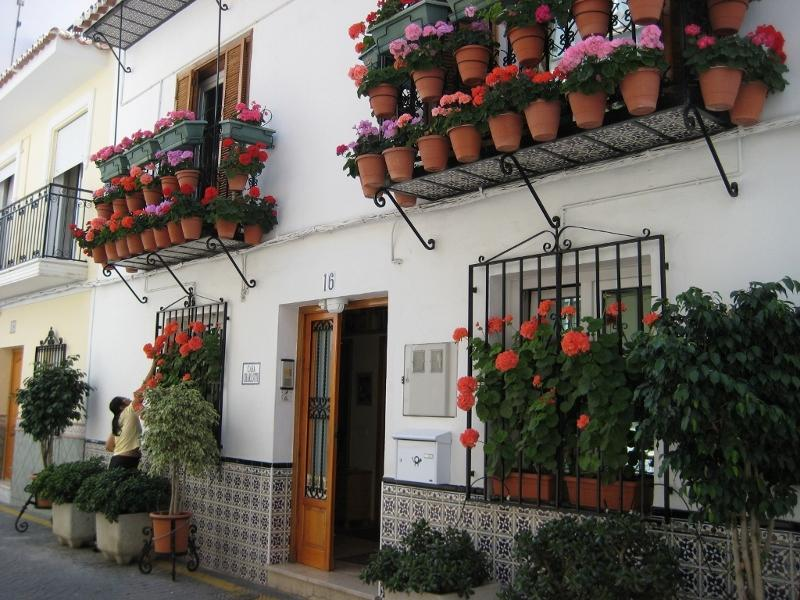Front of Flower house CASA CHARLOTTE - CASA CHARLOTTE  Unit 3 - 2nd floor ( topfloor) - Nerja - rentals