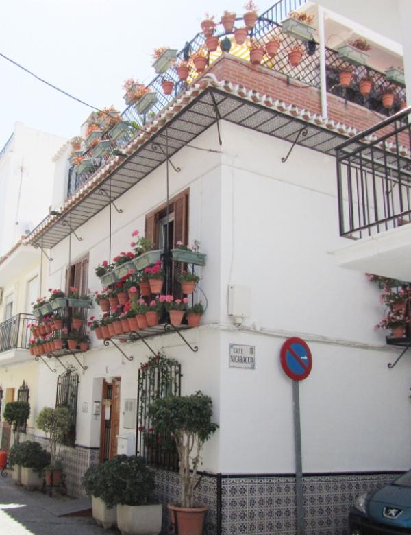 Front side of flower house CASA CHARLOTTE - Flowerhouse  CASA CHARLOTTE  Unit 2 - 1st floor - Nerja - rentals