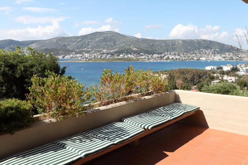 terrace view over the sea - Porto Rafti home by the sea, Greece 2 pools tennis - Porto Rafti - rentals