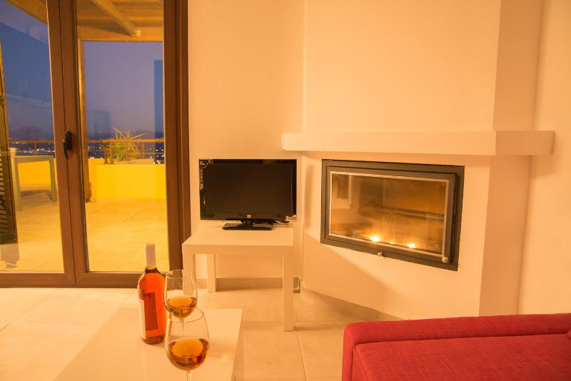 fireplace corner - Plum tree-Morfi village - Exopoli - rentals