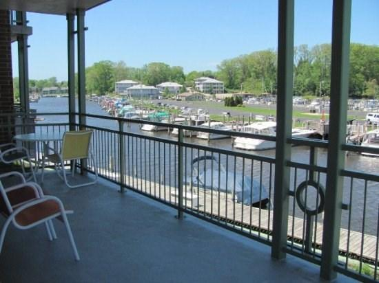 View from the private balcony - Riverwatch 205 - South Haven - rentals