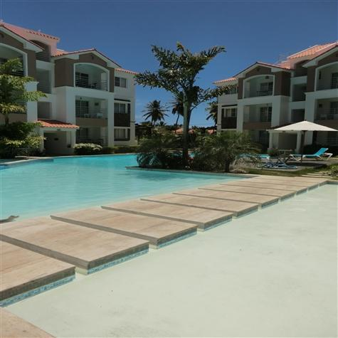 Relax in this beautiful tranquil pool area - Corte Sea 2BR, 2BA well equipped gorgeous condo - Bavaro - rentals