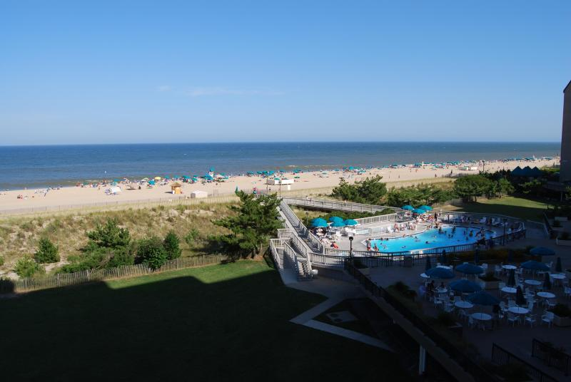 View from balcony on Fourth Floor - Ocean  condo at Sea Colony Beach and Tennis resort - Bethany Beach - rentals