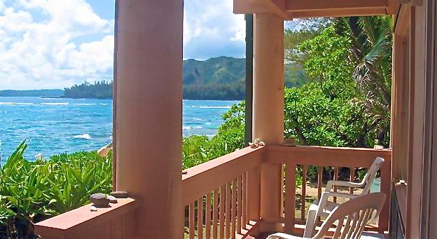 Your Oceanfront Lanai - Just one of 3 at Aloha Kai - BEACHFRONT PARADISE - OPEN FOR CHRISTMAS WEEK - Haena - rentals