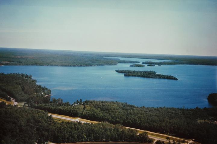 Trout Lake is 4000 acres of crystal blue water and 80% owned by the state - Voegeli Lodge on the shoreline of Trout Lake - Boulder Junction - rentals