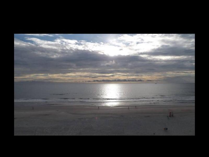 sunset seen from bedroom window and Balcony - Daytona beach view eff  608 - Daytona Beach - rentals